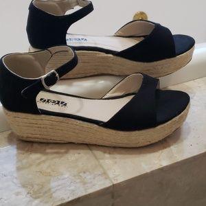 Shoes - Black Espadrilles- size 9